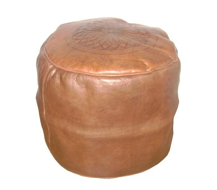 tabouret marocain cuir tann marron au palais des nomades. Black Bedroom Furniture Sets. Home Design Ideas
