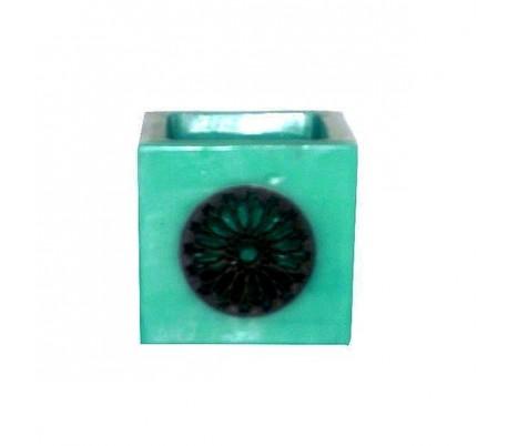 Photophore Marocain turquoise foncé