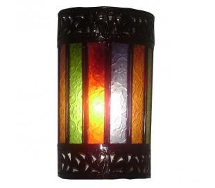 Applique Marocaine LUNE fer forgé multicolore