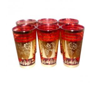 Verres à thé Marocain BIENVENUE 2 rouge