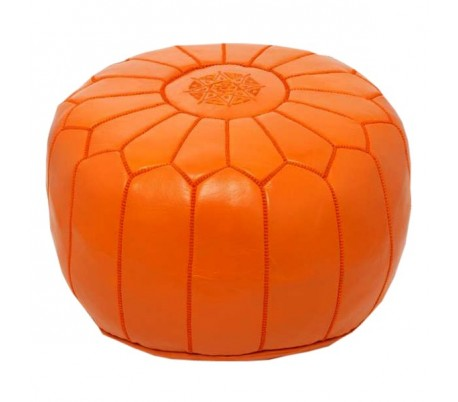 Pouf Marocain MARRAKCHI orange
