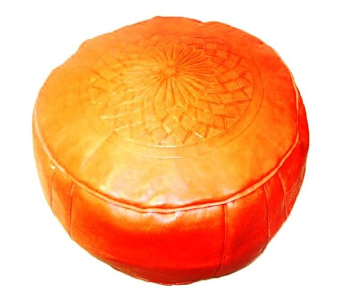 pouf marocain cuir tann rouge au palais des nomades. Black Bedroom Furniture Sets. Home Design Ideas