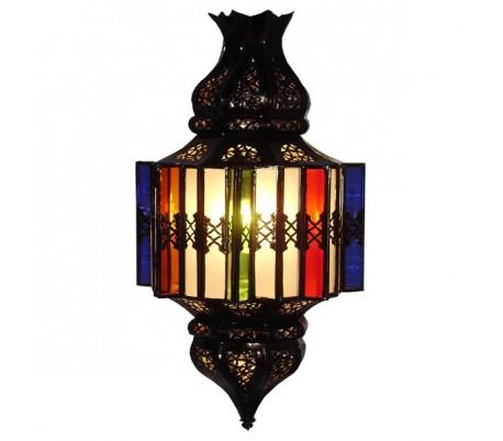 lanterne marocaine atlas 2 fer forg au palais des nomades. Black Bedroom Furniture Sets. Home Design Ideas