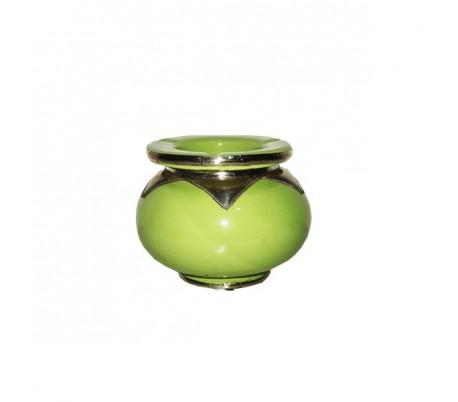 Cendrier Marocain Marrakchi vert pistache petit modèle