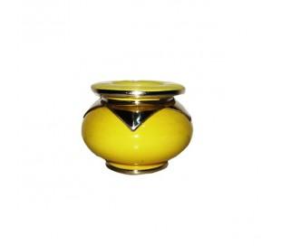 Cendrier Marocain Marrakchi jaune fluo petit modèle