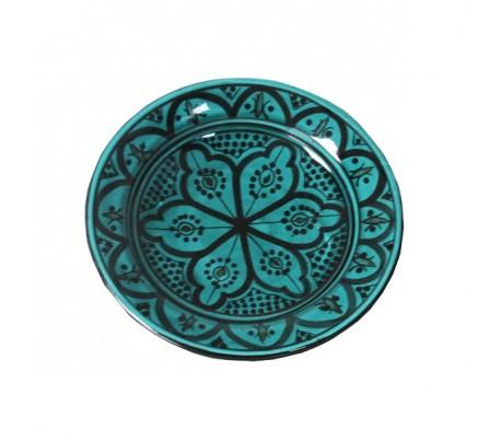 Plat Marocain décoratif turquoise