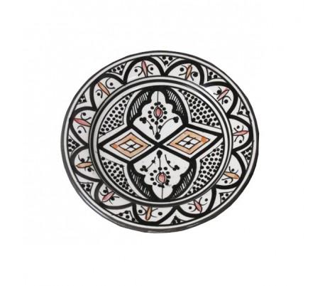 Plat Marocain décoratif noir et blanc