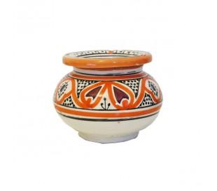 Cendrier Marocain blanc et orange XL