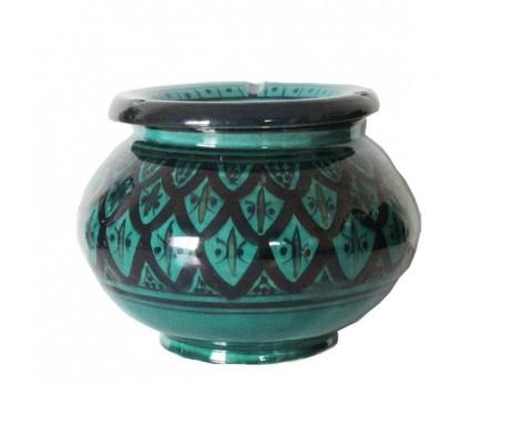 Cendrier Marocain vert et noir XXL