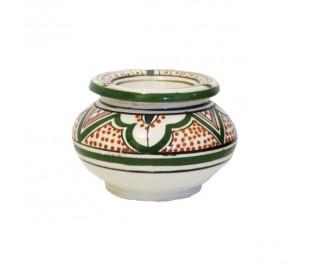Cendrier Marocain vert et blanc XXL