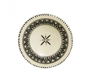 Assiette marocaine à couscous KAIROUAN