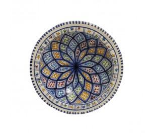 Assiette marocaine à couscous NADIA