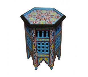 Guéridon Marocain bleu ciel