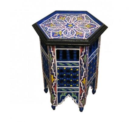 Guéridon Marocain bleu