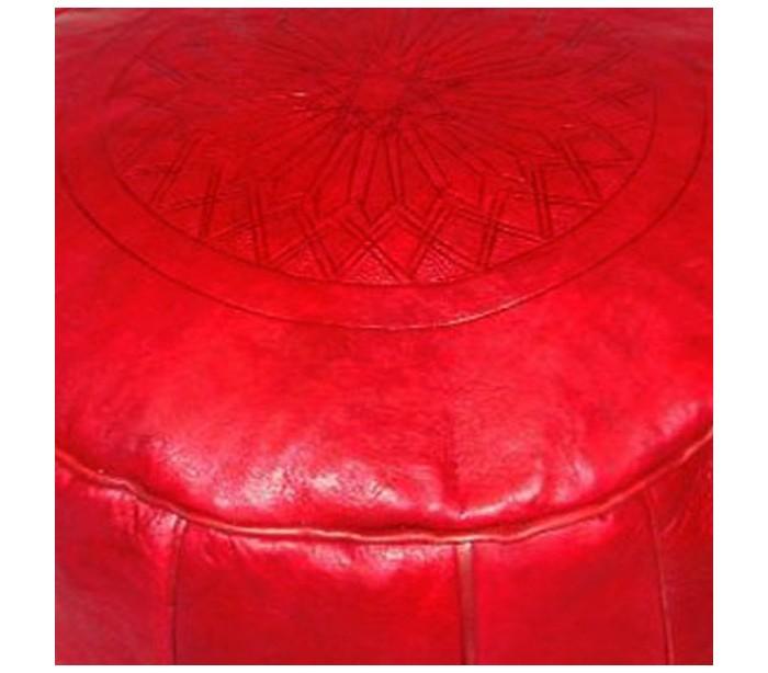 tabouret marocain cuir tann bordeaux au palais des nomades. Black Bedroom Furniture Sets. Home Design Ideas