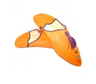 Babouches Marocaines ZAGORA orange