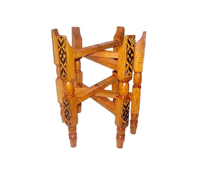 plateau marocain argent tr pied en bois au palais des nomades. Black Bedroom Furniture Sets. Home Design Ideas