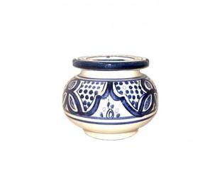 Cendrier Marocain blanc et bleu