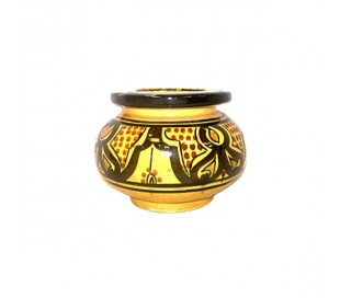 Cendrier Marocain jaune et noir