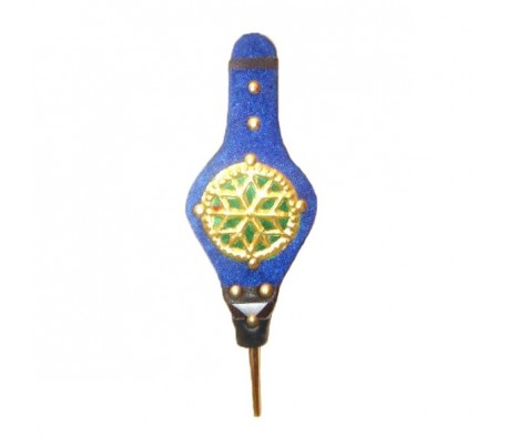 Soufflet décoratif bleu