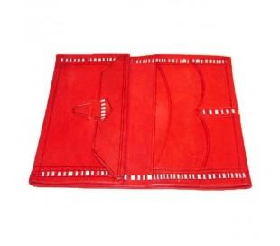 Portefeuilles cuir rouge