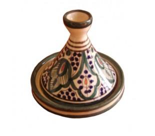 Tajine Marocain décoratif beige et vert