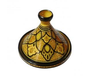 Tajine Marocain décoratif jaune et noir