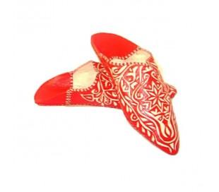 Babouches Marocaines MARRAKCHIA rouge