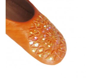 Babouches Marocaines d'intérieures BERBERE orange