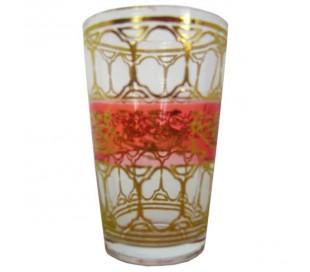 Verres à thé Marocain TRADITIONNEL rouge clair
