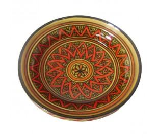 Tajine Marocain décoratif jaune et orange