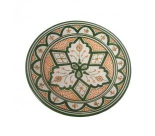 Plat Marocain décoratif vert